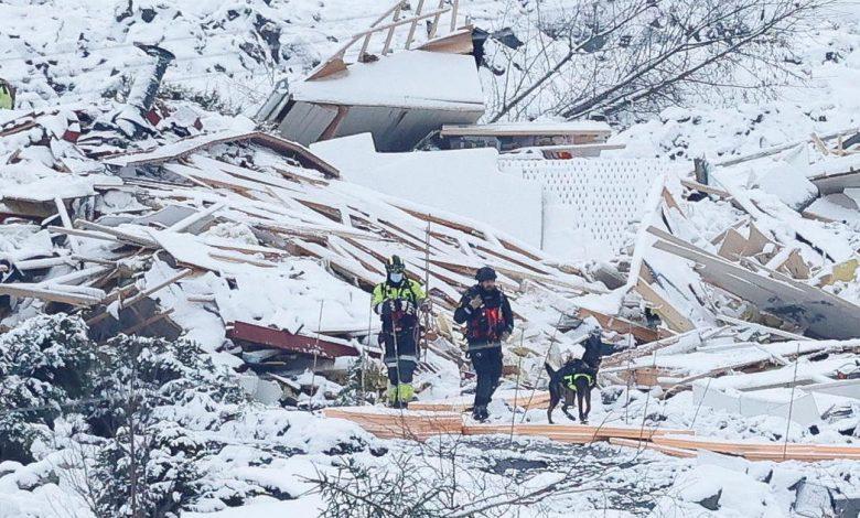 A third body was found in a Norwegian landslide;  7 is still missing