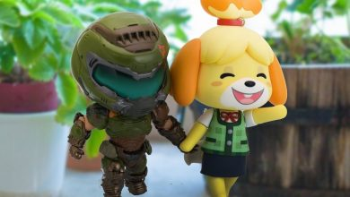 Photo of At random: Watch Doomguy and Animal Crossing's Isabel in the New Year together on Twitter