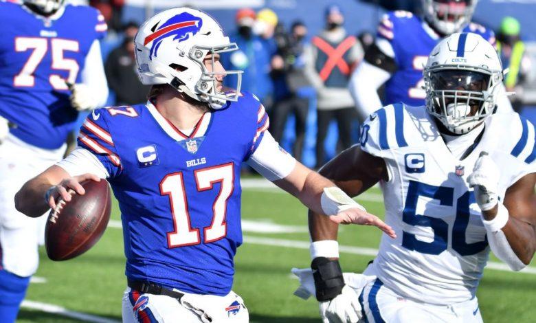 Bills' Josh Allen hits Stefon Diggs with a 35-yard TD kick