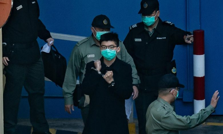 Hong Kong pro-democracy activist Joshua Wong was arrested under the National Security Act