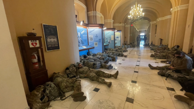 Photo of National Guard soldiers sleep in the US Congress |  Blinks