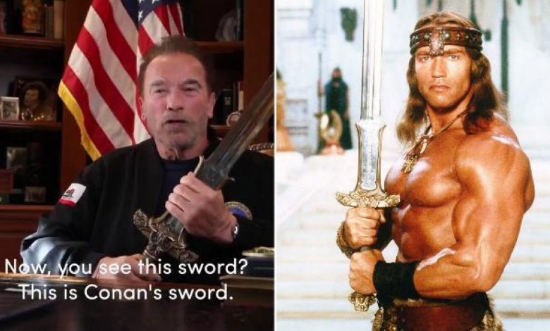 """Schwarzenegger draws Conan's sword against Trump: """"The congressional attack was the night of America's crystals"""""""