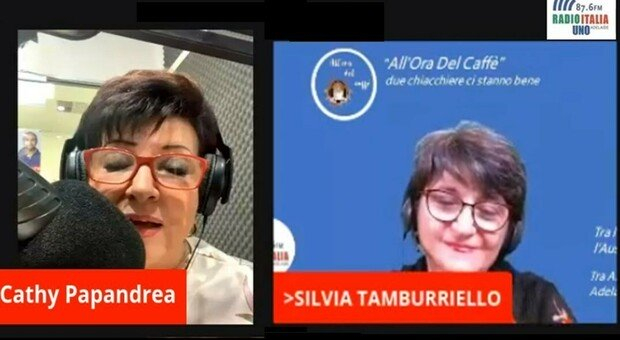 Silvia, Marche's voice in the world with Radios of the United States, Argentina, Belgium and Australia