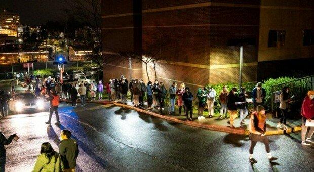 Volunteers queued up at night (even in pajamas) to avoid sending in missed doses