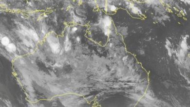 Photo of weather.  Warning of a tropical storm towards Australia.  Impending landing «Weather 3B