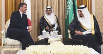Renzi, Conferences and Benefits.  Riyadh - Rome on a private plane