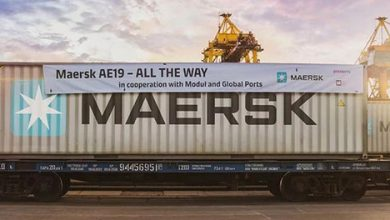 Photo of Russia.  The Global Ports Group serves the first train in Maersk on the Japan-Europe transit route (by A. Martinengo)