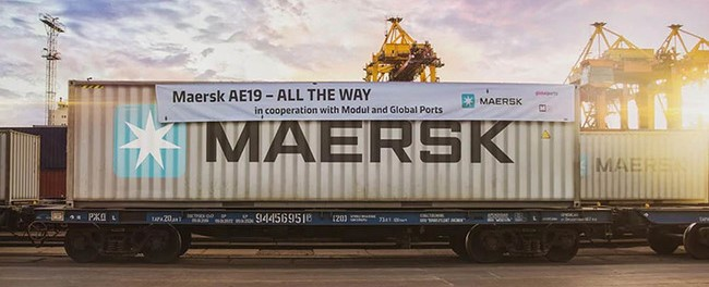 Russia.  The Global Ports Group serves the first train in Maersk on the Japan-Europe transit route (by A. Martinengo)
