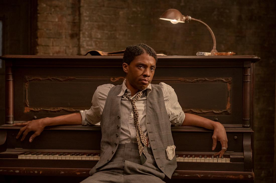 MA RAINEY'S BLACK BOTTOM (2020) Chadwick Bosman as Levi.  Commercial Record.  David Lee / Netflix
