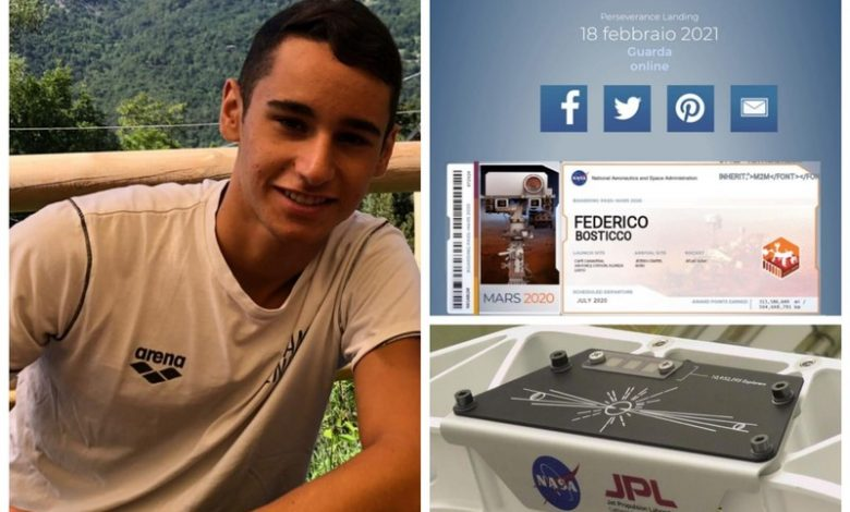 Embrace on Mars, the name of sixteen-year-old Federico Bustico on the Red Planet - Sanremonews.it