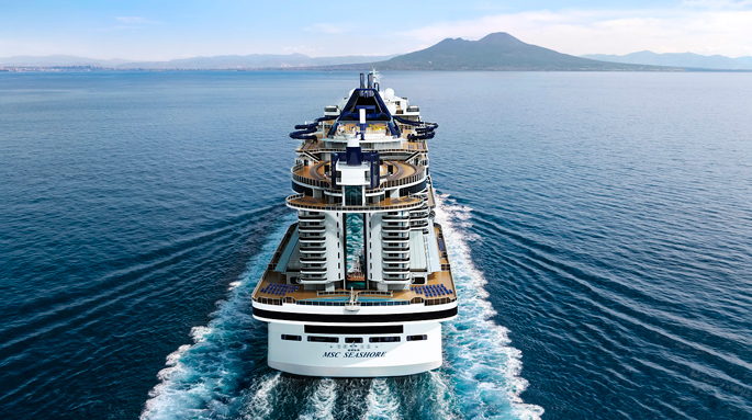 The Msc Seashore, the largest Italian ship in six months, arrives