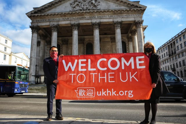 United kingdom.  A site to help immigrants from Hong Kong