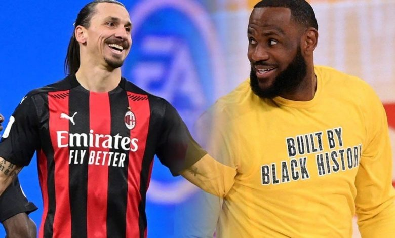 Ibrahimovic against Lebron has always been a sport policy