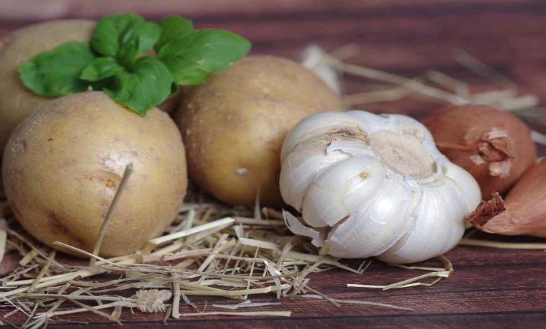 How to store garlic, potatoes and onions