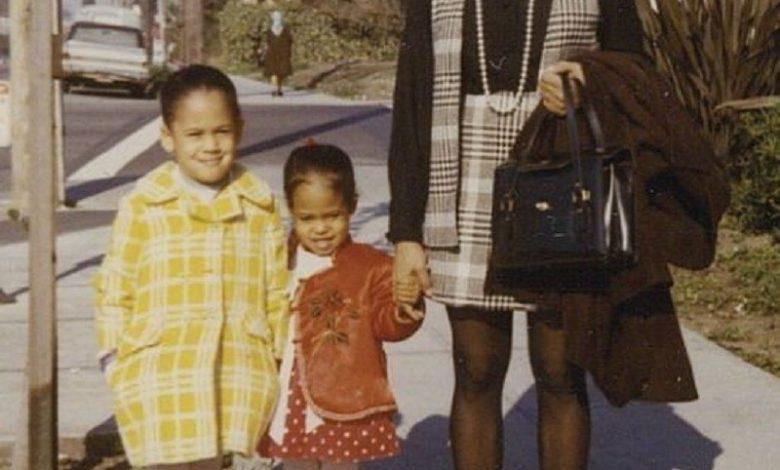 Kamala Harris in una foto di famiglia