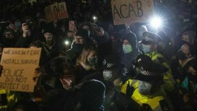 Photo of Clashes with police at the vigils.  Kate Middleton at the memorial