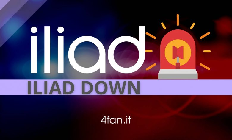 The Iliad down, today March 17, 2021. Live updates