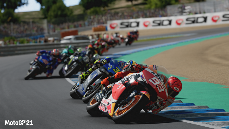 MotoGP 21, one of the official images for the game.