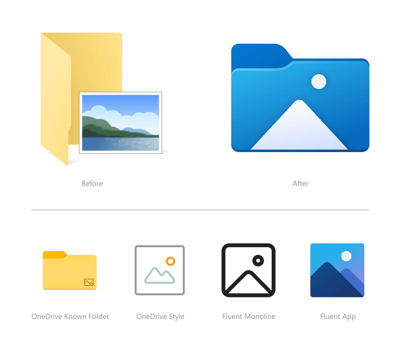New Windows 10 21H2 Icons