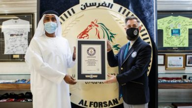 "Photo of Emirates news agency – Emirati ""Al Fursan"" surpasses the Guinness Book of Records with the largest medal in the world"