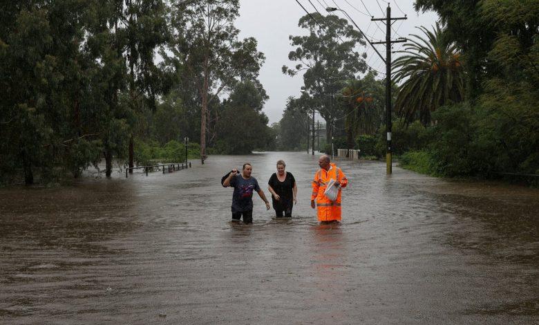 Flooding in Australia led to the evacuation of parts of Sydney