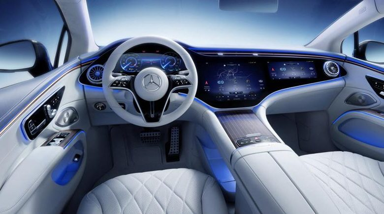 Mercedes EQS unveiled the hi-tech interiors of the electric car
