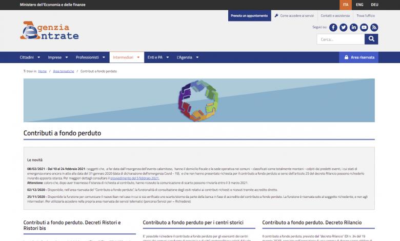 Non-reimbursable contributions DL Sostegni, posted a revenue saving agency