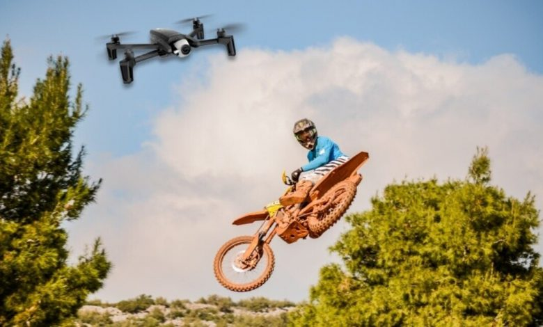 UK, drones in the sky against theft and outlaw enduro riders