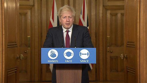 Regno Unito verso la normalità, Boris Johnson parla al Paese