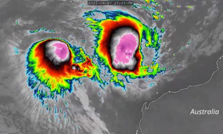 "the weather.  Australia, Hurricane Seroja and the FUJIWARA EFFECT ""3B Meteo"" dance"