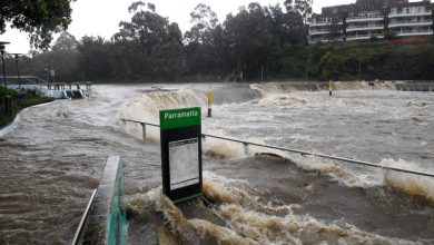 "Photo of Floods in Australia.  Mons.  Vincent Long (Parramatta): ""An environmental shift to save the planet from destruction"""