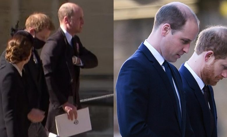 Filippo's funeral, Harry and William talking to each other: Tears of the Queen