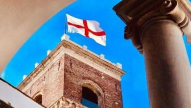 Photo of Genoa prepares to celebrate San Giorgio Flag Day.  Relationship with London