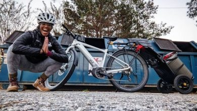 Photo of Aisha McGowan, the first African American to become a professional cyclist
