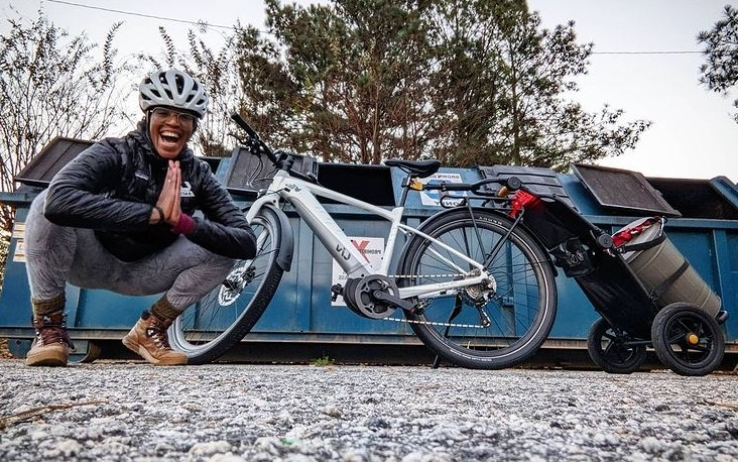 Aisha McGowan, the first African American to become a professional cyclist