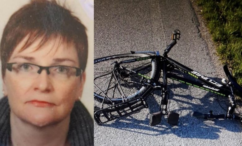A car on a bike floods her, and she dies at the age of 48: she has two children left