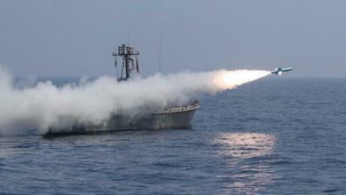 Photo of A missile against an Iranian ship, suspected of an Israeli attack