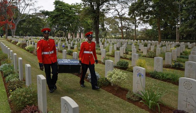 British soldiers without burial because they are black.  The UK apologizes