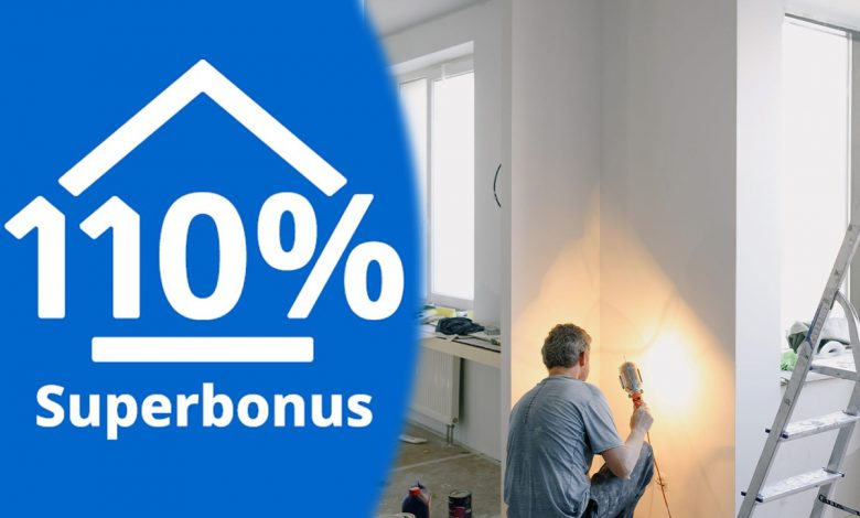 How is a home floor reconditioned with 110% Superbonus?