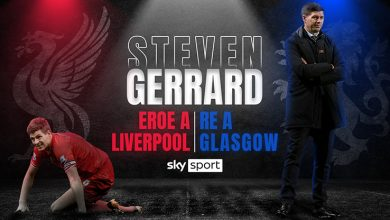 Photo of Steven Gerrard: the champion of Liverpool, the king of Glasgow.  Sky Sport special