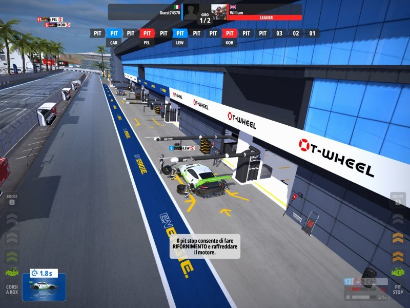 In GT Manager, pauses must be carefully thought out