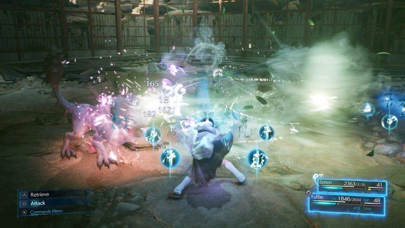 Final Fantasy VII remake Intergrade: Combat.