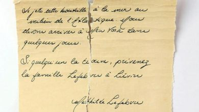 Photo of The message in a bottle is from Matilde, the 13-year-old who died on board the Titanic.  A puzzle that moves France