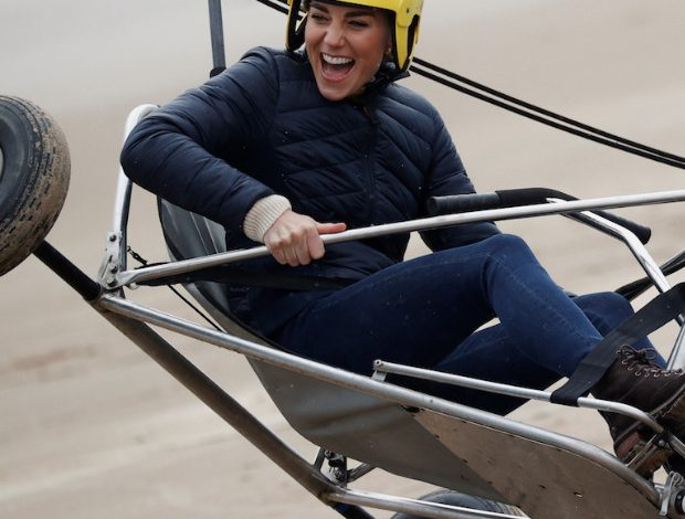 Kate Middleton: Fearless On The Beach.  As in life