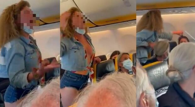 A passenger argues with everyone on board from Ibiza (video went viral)