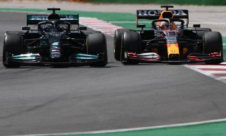 F1, Mercedes vs.  Red Bull, that's why they won the W12 race in Portimao