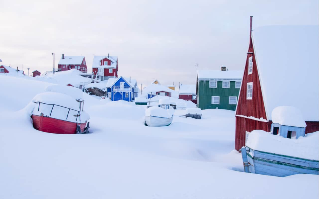 Photo of Greenland, snowfall never seen before in living memory