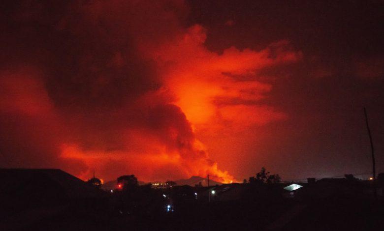 The eruption of Nyiragongo Volcano caused panic
