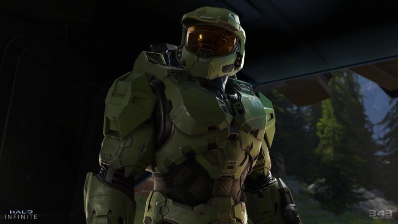 Halo Infinite, Master Chief looks at a loss in the gameplay view.