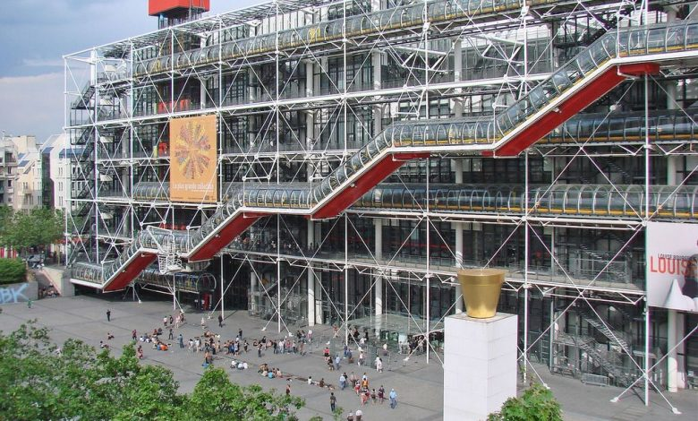 The Pompidou Center will open in Paris in the United States